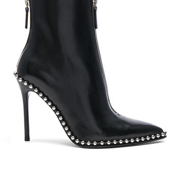 Alexander Wang Leather Eri Boots in Black | FWRD
