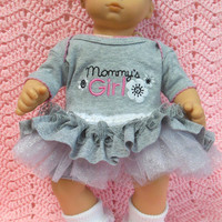 """AMERICAN GIRL Bitty Baby Clothes """"Mommy's Girl 2"""" (15 inch) doll outfit dress, shorts, booties/ socks, and headband/hair clip"""