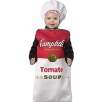 Rasta Imposta Campbell's Tomato Soup Can Bunting, Red/White, 3-9 Months