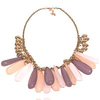 Acrylic Drop Chain Necklace