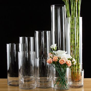 European style transparent Clear Tabletop tall Glass Vase Bottle Terrarium Hydroponic Container