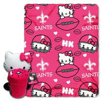New Orleans Saints NFL Hello Kitty with Throw Combo