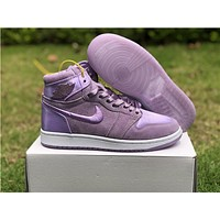 Air Jordan 1 Satin Purple Women Sneaker Shoe 36 40 | Best Deal Online