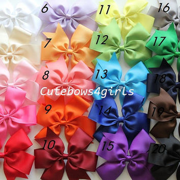 10 Extra large hair bow - big hair bows - Toddler hair bow - Birthday gift set . You can choose colors.