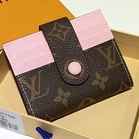 LV Louis Vuitton New fashion  leather wallet purse handbag card package
