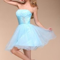 Efashion Women's Prom Ball Gown Dress Color Baby Blue Size 10