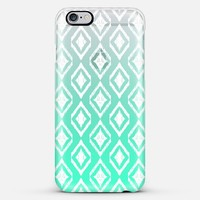 White Tribal Diamonds on Mint iPhone 5s case by Micklyn Le Feuvre   Casetify