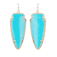Kendra Scott- Skylar Arrowhead Earring in Turquoise