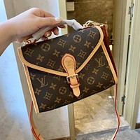 LV Vintage Presbyopia Women's Canvas Handbag Shoulder Bag Crossbody Bag