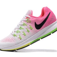 NIKE fashion casual breathable running shoes Pink white