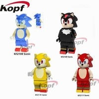 Single Sale Super Heroes Figures Building Blocks Adventure Game Assemble Sonic Sonic and the Black Knight Gift Toys Kids KF8039