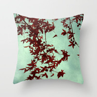 autumn red Throw Pillow by ingz | Society6