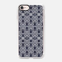 Flower lace_midnight blue iPhone 7 Case by Kanika Mathur | Casetify