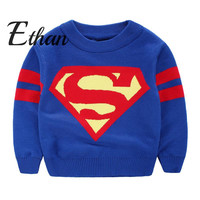 Baby Go Go Store Brand Boy Child Knit Pullover Sweater. Baby Kid Cool Boys Clothes Clothing Sweaters Superman  2-6Y