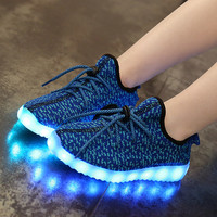 Led shoes for kids  usb Children shoes 2016 Summer Breathable shoes Rechargeable The New  Free shipping light