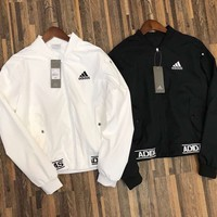 Adidas Woman Fashion Zipper Cardigan Sweatshirt Jacket Coat Windbreaker Sportswear