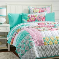 Sunset Beach Quilt, Full/Queen, Multi