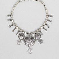 Reclaimed Vintage Inspired Boho Coin Necklace at asos.com