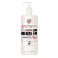 Soap & Glory Peaches & Clean 4-in-1 Wash Off Deep Cleansing Milk, Minty Peach | drugstore.com