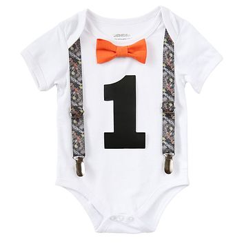 Hunting Tree Camo First Birthday Outfit Baby Boy
