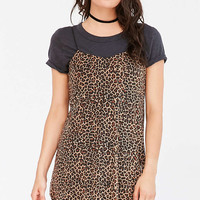 Motel Mesh Leopard Slip - Urban Outfitters