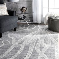 nuLOOM Thomas Paul Power loomed Octopus Area Rug