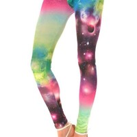 Amour- Galaxy Leggings Starry Night Sky Milky Way Aurora Space Hipster Trendy (BS057)