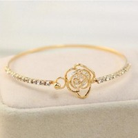 Gift Stylish Shiny Great Deal Hot Sale New Arrival Awesome Korean Accessory Diamonds Bangle Bracelet [11141298516]