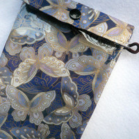 See Through Pouch Butterfly - Vintage Inspired - clear bag- Pencil case- First aid bag- Gadget bag- Cosmetics bag - gif under 15