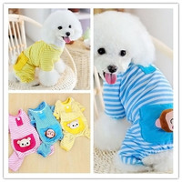 Small Pet Dog Stripes Pajamas Coat Cat Puppy Cozy Clothes Apparel Clothing [7672081990]