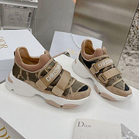DIOR 2021 latest casual d-wonder sneakers Shoes Khaki