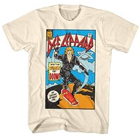 Mens Def Leppard Comic Tee Shirt