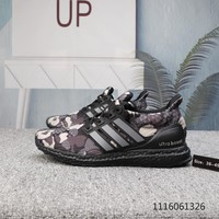 HCXX A816 Bape x adidas Ultra BOOST 4.0 Breathable Running Shoes Camouflage