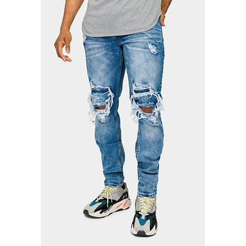 Destroyed and Distressed Denim Jeans