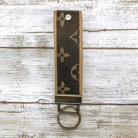 Upcycled LV Key Fob