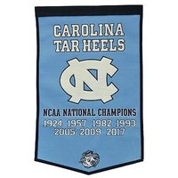 Licensed North Carolina Tar Heels 24 inch x 38 inch Wool Banner Flag UNC Winning Streak KO_19_1