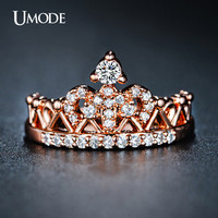Umode Classic Cubic Zirconia Round Rings For Women