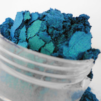 Crush  Mineral Makeup EyeShadow  5g Sifter Jar Blue Green Eye Shadow Petite Size Duo Chrome