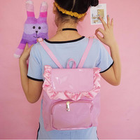 Ruffle enamel PVC larme kei backpack (free ship) sold by CandyFrizz Stars