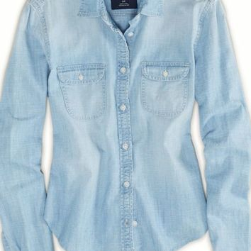 's Chambray Shirt (Medium Wash)