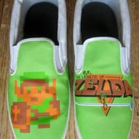 Custom The Legend of Zelda NES Canvas Shoes