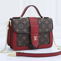LV Louis Vuitton Monogram Canvas Chain Bag Handbag Shoulder Bag