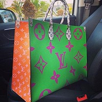 LV Louis Vuitton Women Fashion Leather Handbag Tote