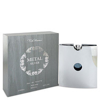 Metal Silver by Ron Marone Eau De Toilette Spray 3.4 oz for Men
