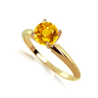 1.0ct Orange Sapphire Solitaire Ring In 14k white or yellow gold