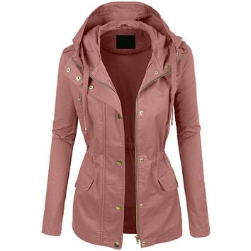 Lightweight Cotton Military Anorak Jacket with  Hoodie (CLEARANCE)