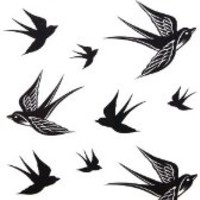 GGSELL 2012 new design New release temporary tattoo waterproof Swallow tattoo stickers