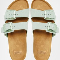 Faith Jar Mint Mega Flatform Sandals at asos.com