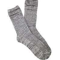 Marled Cable Knit Socks