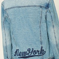 New York Graphic Denim Jacket